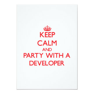 Keep Calm and Party With a Developer Custom Invitation