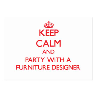 Keep Calm and Party With a Furniture Designer Business Card Templates