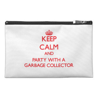 Keep Calm and Party With a Garbage Collector Travel Accessory Bag