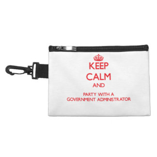 Keep Calm and Party With a Government Administrato Accessories Bags