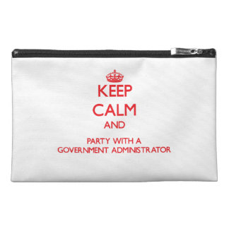 Keep Calm and Party With a Government Administrato Travel Accessories Bags