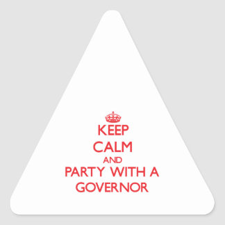 Keep Calm and Party With a Governor Sticker