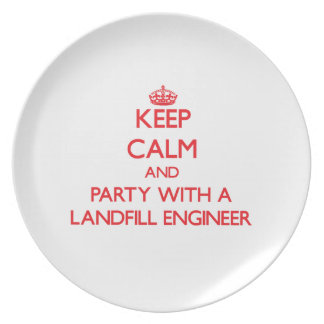 Keep Calm and Party With a Landfill Engineer Party Plate