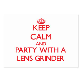 Keep Calm and Party With a Lens Grinder Business Cards