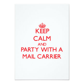 Keep Calm and Party With a Mail Carrier Invites