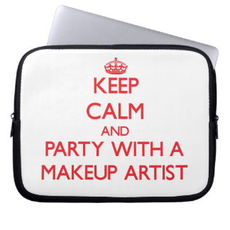 Keep Calm and Party With a Makeup Artist Computer Sleeves