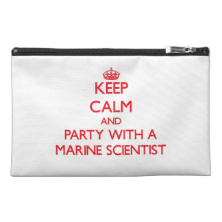 Keep Calm and Party With a Marine Scientist Travel Accessories Bag