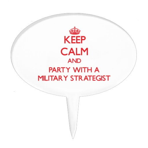Keep Calm and Party With a Military Strategist Cake Toppers