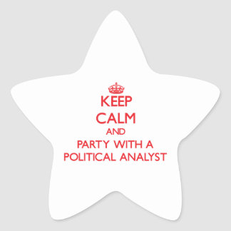 Keep Calm and Party With a Political Analyst Sticker