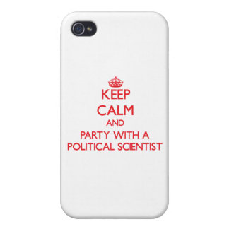 Keep Calm and Party With a Political Scientist iPhone 4 Cover