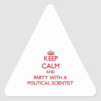 Keep Calm and Party With a Political Scientist Sticker