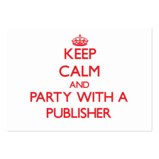 Keep Calm and Party With a Publisher Business Card Template