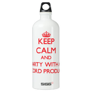 Keep Calm and Party With a Record Producer SIGG Traveller 1.0L Water Bottle