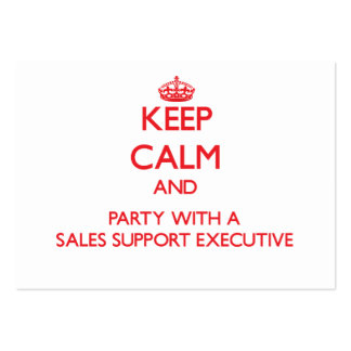 Keep Calm and Party With a Sales Support Executive Business Card Template