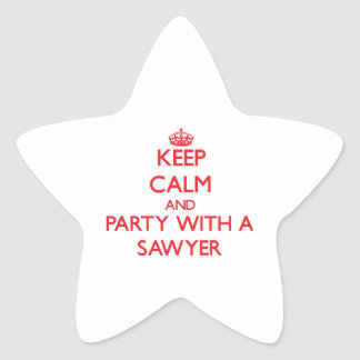Keep Calm and Party With a Sawyer Stickers