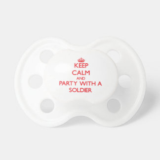 Keep Calm and Party With a Soldier Baby Pacifier