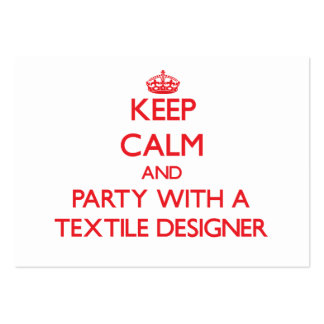 Keep Calm and Party With a Textile Designer Business Cards