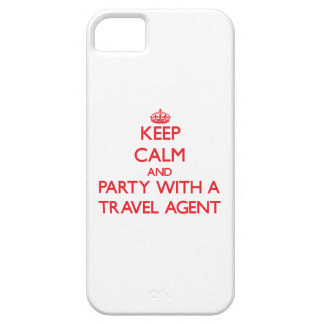 Keep Calm and Party With a Travel Agent iPhone 5/5S Covers