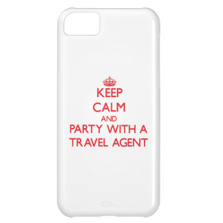 Keep Calm and Party With a Travel Agent Cover For iPhone 5C