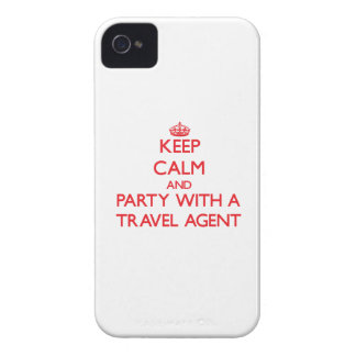 Keep Calm and Party With a Travel Agent iPhone 4 Cases