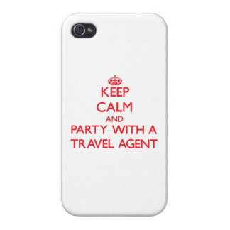 Keep Calm and Party With a Travel Agent iPhone 4 Cover