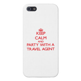 Keep Calm and Party With a Travel Agent Cover For iPhone 5