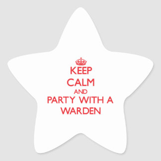 Keep Calm and Party With a Warden Stickers