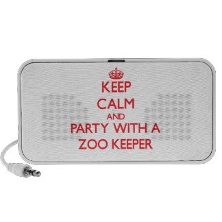 Keep Calm and Party With a Zoo Keeper Laptop Speakers
