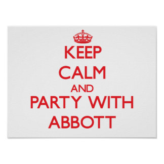 Keep calm and Party with Abbott Posters