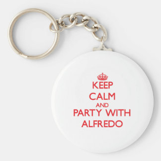 Keep calm and Party with Alfredo Key Chains