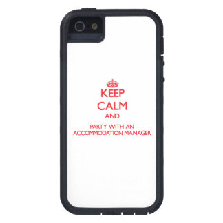 Keep Calm and Party With an Accommodation Manager iPhone 5 Cover