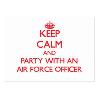 Keep Calm and Party With an Air Force Officer Business Card Templates