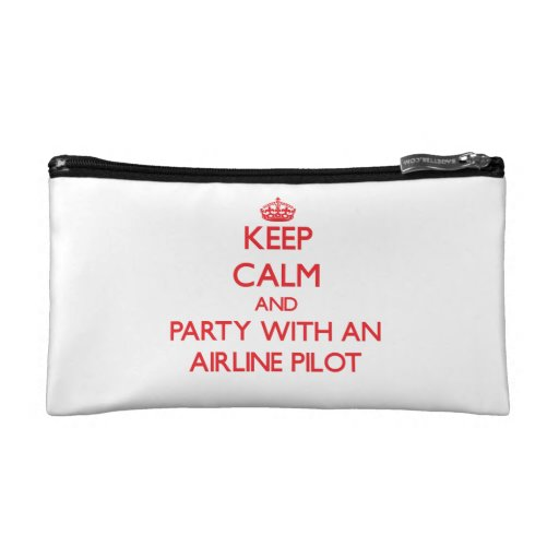 Keep Calm and Party With an Airline Cosmetic Bag