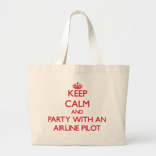Keep Calm and Party With an Airline Canvas Bag
