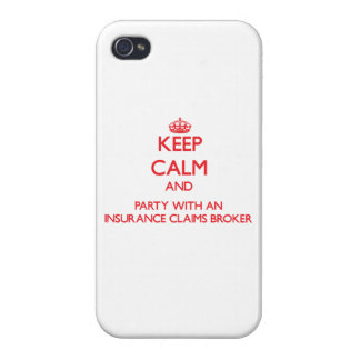 Keep Calm and Party With an Insurance Claims Broke iPhone 4 Cover