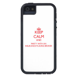 Keep Calm and Party With an Insurance Placing Brok iPhone 5 Cover