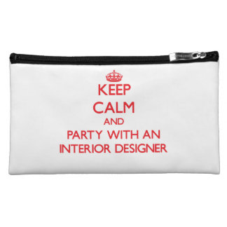 Keep Calm and Party With an Interior Designer Cosmetic Bag