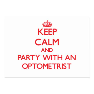 Keep Calm and Party With an Optometrist Business Card Templates