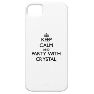 Keep calm and Party with Crystal iPhone 5 Cover