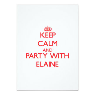 Keep Calm and Party with Elaine 5x7 Paper Invitation Card