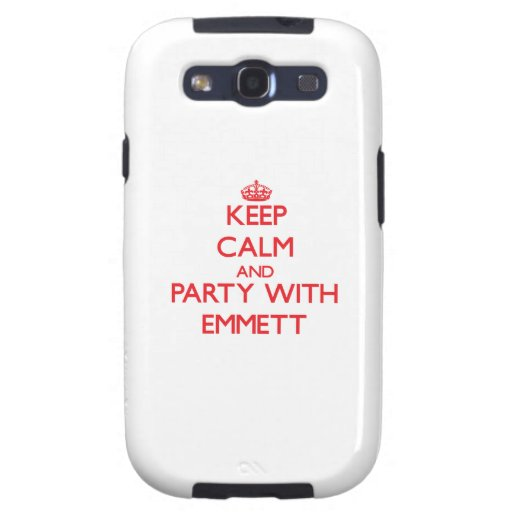 Keep calm and Party with Emmett Samsung Galaxy S3 Case
