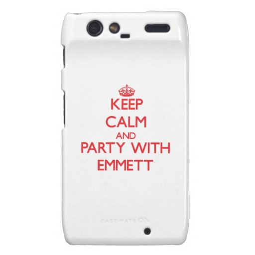 Keep calm and Party with Emmett Motorola Droid RAZR Cover