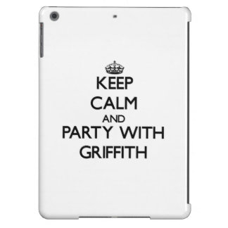 Keep calm and Party with Griffith iPad Air Case