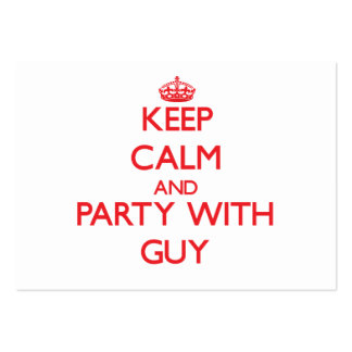 Keep calm and Party with Guy Business Card Template