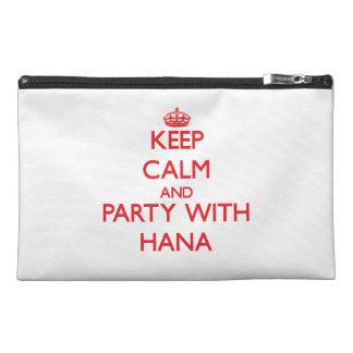 Keep Calm and Party with Hana Travel Accessory Bag