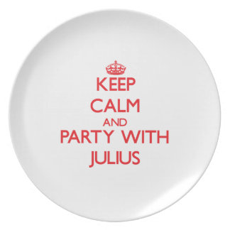 Keep calm and Party with Julius Party Plate