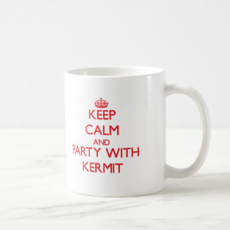 Keep calm and Party with Kermit Mugs
