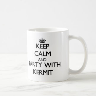 Keep Calm and Party with Kermit Coffee Mug