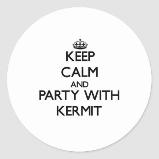 Keep Calm and Party with Kermit Round Sticker