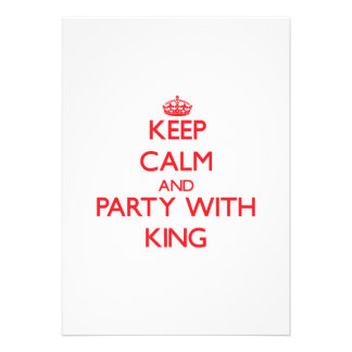 Keep calm and Party with King Cards